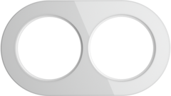 Рамка на 2 поста (Белый) WL21-frame-02 Werkel