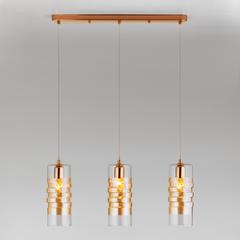 Подвесной светильник со стеклянными плафонами Eurosvet Block 50185/3 золото