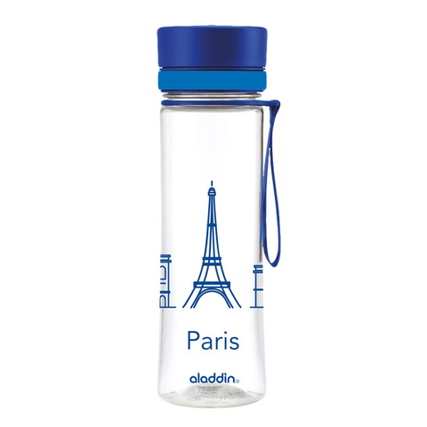 Бутылка для воды Aladdin Aveo Paris (0,6 литра) синяя 10-01102-085