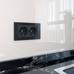 Рамка для двойной розетки (черный) WL01-Frame-01-DBL Werkel