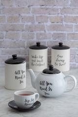 Емкость для хранения кофе Carnaby Script 15,5х9,5 см P&K P_0059.601