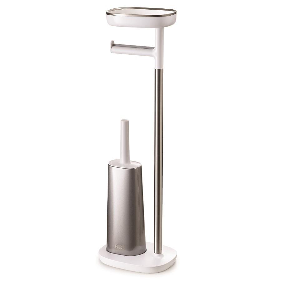 Набор держатель для туалетной бумаги с подносом EasyStore + ёршик для унитаза Flex™ Joseph Joseph 70519 фото