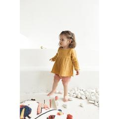 Платье с длинным рукавом из хлопкового муслина горчичного цвета из коллекции Essential 24-36M Tkano TK20-KIDS-DRL0003