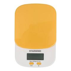 Весы кухонные электронные Starwind, до 2 кг, 2хААА, оранжевые SSK2158