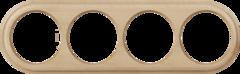 Рамка на 4 поста (светлый бук) WL15-frame-04 Werkel