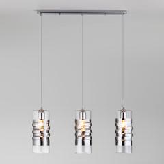 Подвесной светильник со стеклянными плафонами Eurosvet Block 50185/3 хром