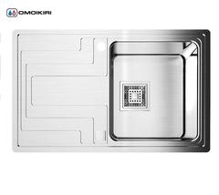 Кухонная мойка из нержавеющей стали OMOIKIRI Mizu 78-1-R (4993003)