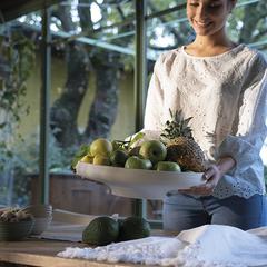 Блюдо для фруктов Tierra 42 х 30 см бежевое Guzzini 17970079