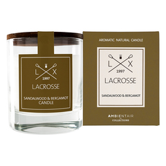 Ароматическая свеча в стекле «Сандал и бергамот» Lacrosse круглая Ambientair VV040SBLC
