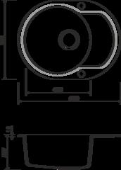 Кухонная мойка из искусственного гранита (Artgranit) OMOIKIRI Manmaru-62-BL (4993355)