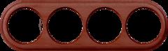 Рамка на 4 поста (итальянский орех) WL15-frame-04 Werkel