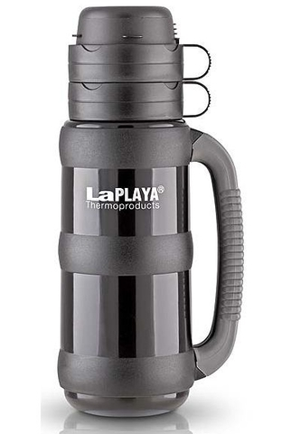 Термос LaPlaya Traditional 35-50 (0,5 литра) со стеклянной колбой, черный