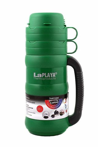 Термос LaPlaya Traditional 35-50 (0,5 литра) со стеклянной колбой, зеленый