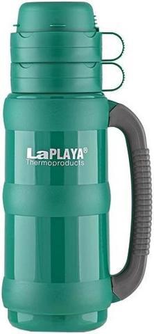 Термос LaPlaya Traditional 35-100 (1 литр) со стеклянной колбой, зеленый 560009