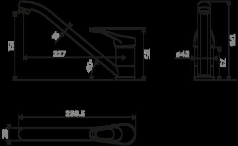 Смеситель для кухни OMOIKIRI Kado-DC (4994167)