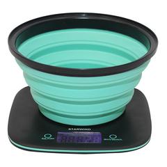 Весы кухонные электронные Starwind, до 5 кг, серые/бирюзовые SSK5572_NEON