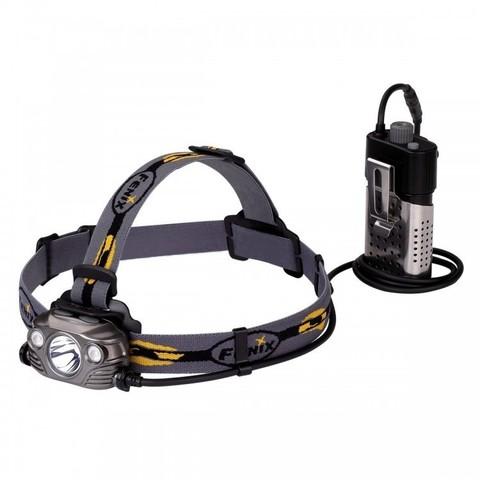 Фонарь светодиодный налобный Fenix HP30R серый, 1000 лм, аккумулятор