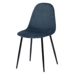 Стул Berg Breeze, вельвет, синий BECH-BR198010