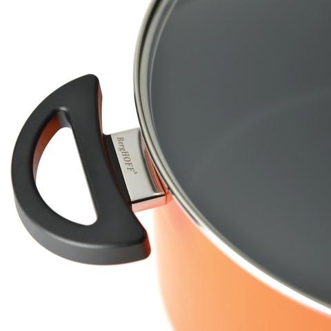 Кастрюля с крышкой 16см 2л BergHOFF Eclipse (оранжевая) 3700156