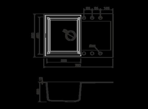 Кухонная мойка из искусственного гранита (Tetogranit) OMOIKIRI Sakaime 79-SA (4993278)
