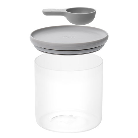 Контейнер для хранения продуктов стеклянный с мерной ложкой 1л Leo BergHOFF 3950137