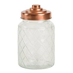 Ёмкость для хранения средняя Glass Jars Lattice 950ml T&G 13101