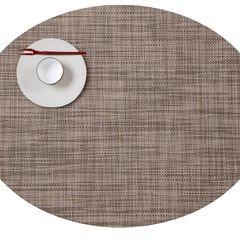 Салфетка подстановочная, жаккардовое плетение, винил, (36х48) Soapstone (100132-017) CHILEWICH Mini Basketweave арт. 0025-MNBK-SPST