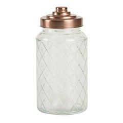 Ёмкость для хранения Glass Jars Lattice 1200ml T&G 13102