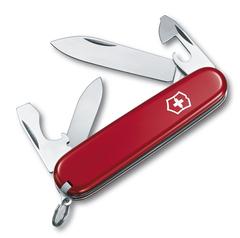 Нож Victorinox Recruit, 84 мм, 10 функций, красный 0.2503