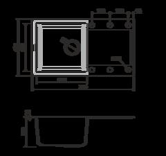 Кухонная мойка из искусственного гранита (Tetogranit) OMOIKIRI Sakaime 78-DC (4993195)