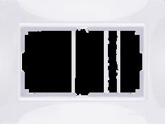 Рамка для двойной розетки (белый, basic) WL03-Frame-01-DBL-white Werkel