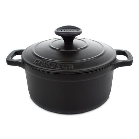 Кастрюля чугунная 16 см (1,3л) CHASSEUR Black (цвет: чёрный) арт. 37216