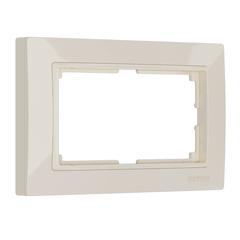 Рамка для двойной розетки (слоновая кость, basic) WL03-Frame-01-DBL-ivory Werkel