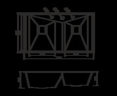 Кухонная мойка из нержавеющей стали OMOIKIRI Izumi 86-2 (4993013)