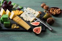 Нож кухонный стальной для сыра Samura BAMBOO SBA-0022/Y