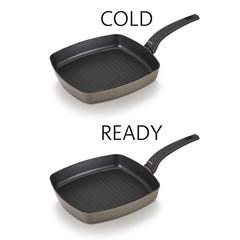 Сковорода-гриль антипригарная 26х26см Brabantia Heat Pearl 30003709