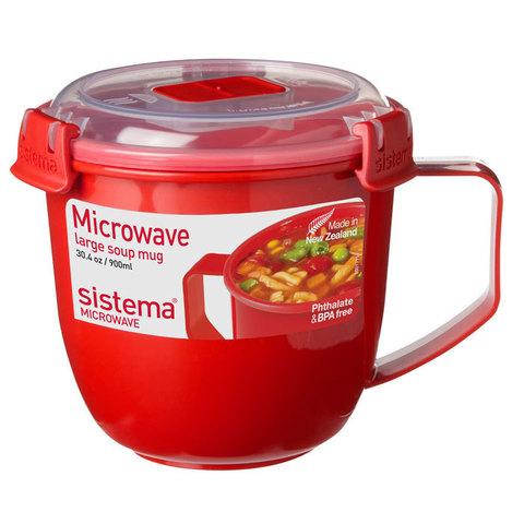 Кружка суповая 900 мл Sistema MICROWAVE 1141