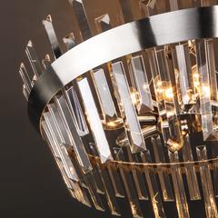 Потолочный светильник с хрусталем Eurosvet Steccato 10111/8 сатин-никель / прозрачный хрусталь Strotskis