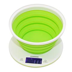 Весы кухонные электронные Starwind, до 5 кг, 2хCR2032, зеленые SSK5575