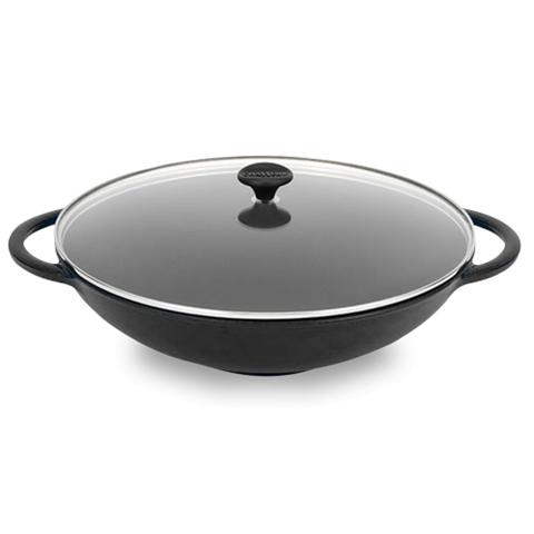 Вок чугунный 37 см (4,5л) CHASSEUR Black (цвет: черный) арт. 1037(7015)