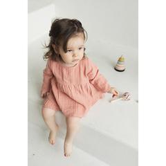 Платье с длинным рукавом из хлопкового муслина цвета пыльной розы из коллекции Essential 4-5Y Tkano TK20-KIDS-DRL0010