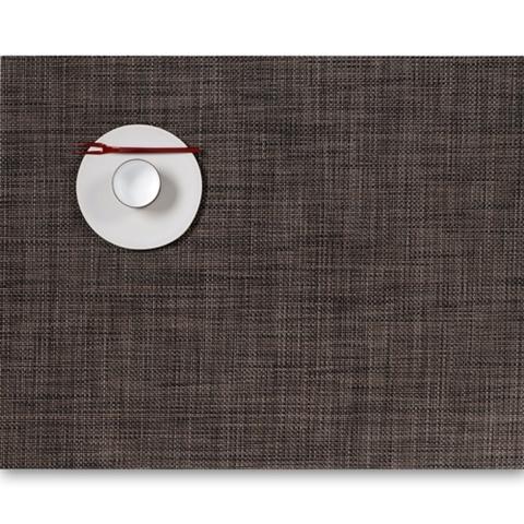 Салфетка подстановочная, жаккардовое плетение, винил, (36х48) Dark walnut (100132-007) CHILEWICH Mini Basketweave арт. 0025-MNBK-DKWL