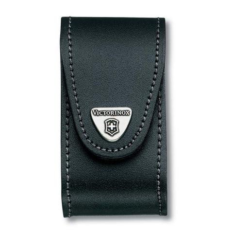Чехол кожаный Victorinox, для ножей 91 мм, толщиной 5-8 уровней, чёрный MV-4.0521.3