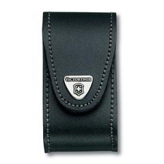 Чехол кожаный Victorinox, для ножей 91 мм, толщиной 5-8 уровней, чёрный 4.0521.3