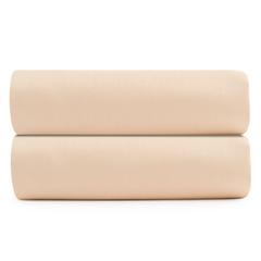Простыня на резинке из сатина бежево-розового цвета из коллекции Essential, 160х200 см Tkano TK20-FS0019