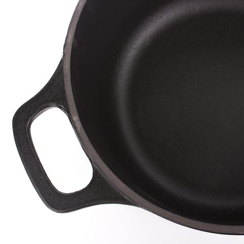 Кастрюля с крышкой чугунная 16 см (1,3л), 23х17х13 см, CHASSEUR Black (цвет: чёрный) арт. 37216