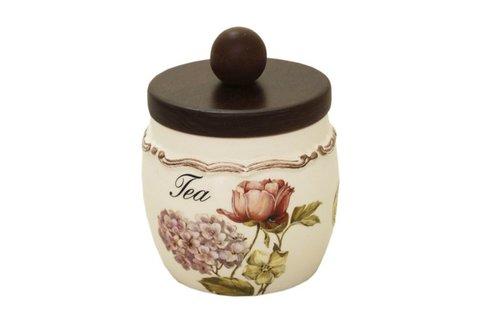 Банка для сыпучих продуктов с деревянной крышкой(чай) Сады Флоренции 34700