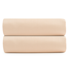 Простыня на резинке из сатина бежево-розового цвета из коллекции Essential, 180х200 см Tkano TK20-FS0022