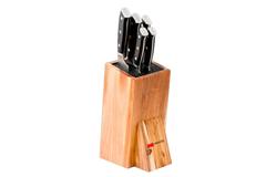 Набор из 5 кухонных стальных ножей Mikadzo Yamata и универсальной подставки