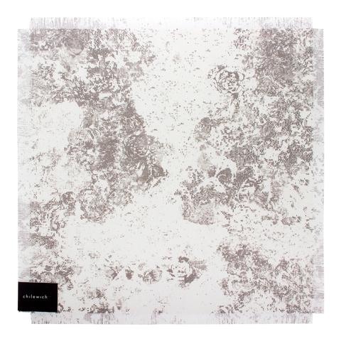 Салфетка подстановочная, винил, (38х39) Black&White CHILEWICH Faded Floral арт. 100382-001